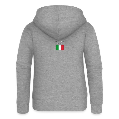 Włosko-polska - Rozpinana bluza damska z kapturem Premium