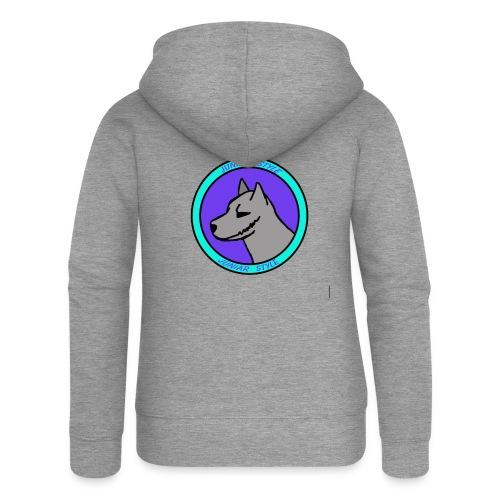 wolf przerobka team Blues7 - Rozpinana bluza damska z kapturem Premium