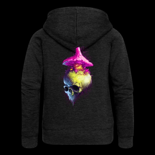 Shroomskull - Women's Premium Hooded Jacket