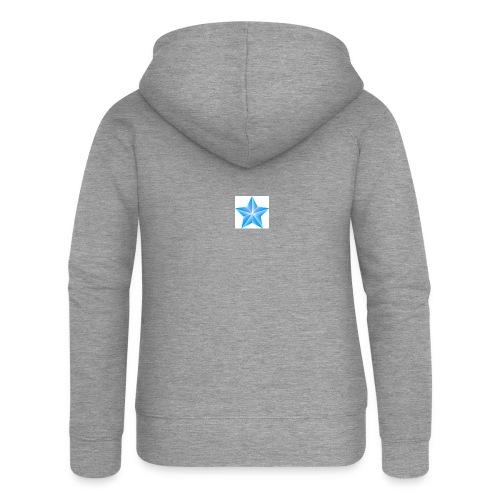 blue themed christmas star 0515 1012 0322 4634 SMU - Women's Premium Hooded Jacket