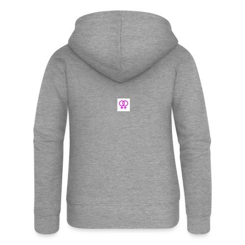 lesbian logo - Veste à capuche Premium Femme