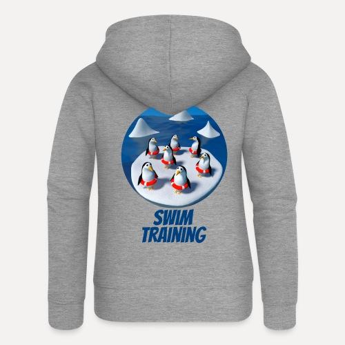Pinguine beim Schwimmunterricht - Women's Premium Hooded Jacket