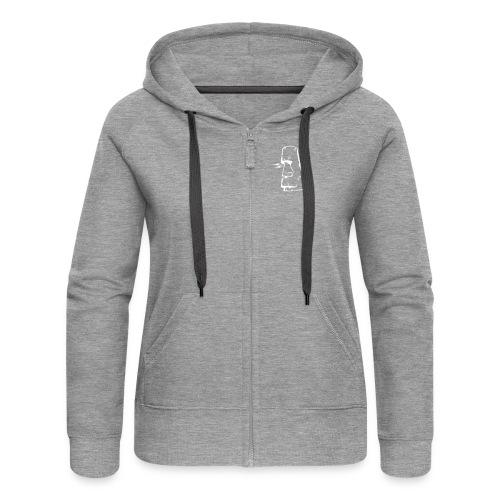 moai3 - Women's Premium Hooded Jacket