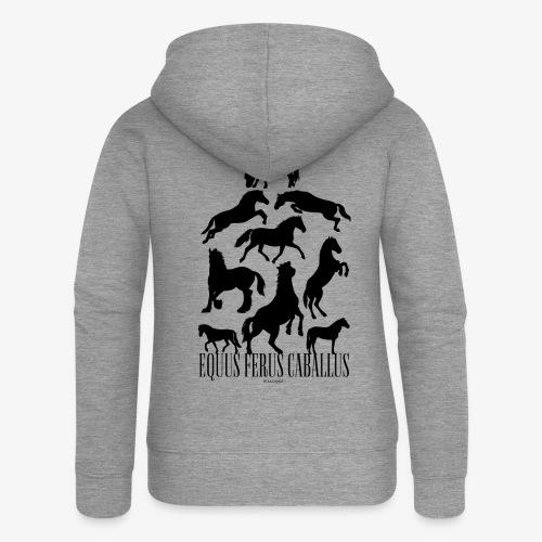 Equus Ferus Caballus Black - Naisten Girlie svetaritakki premium