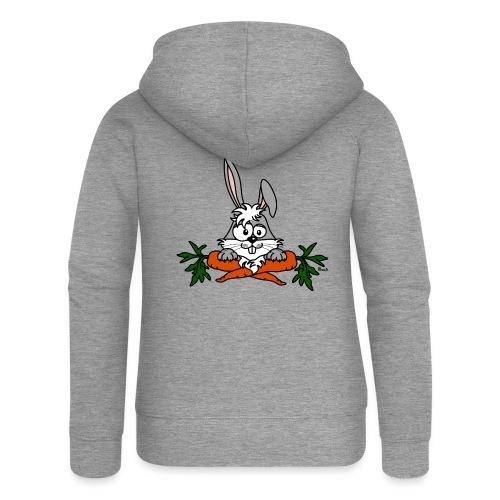 Lapin avec carottes, végétarien, végan - Veste à capuche Premium Femme