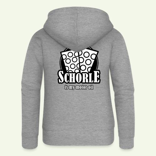 Schorle is my Motoroil Dubbeglaeser - Frauen Premium Kapuzenjacke