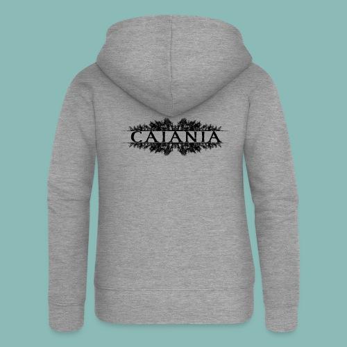 Caiania-logo musta - Naisten Girlie svetaritakki premium