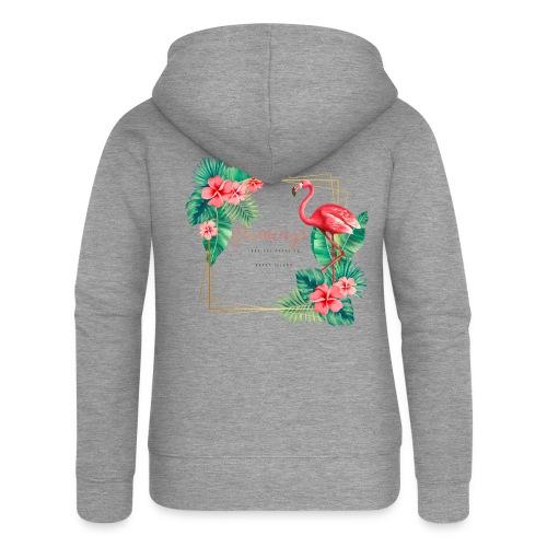 flamingo3 - Rozpinana bluza damska z kapturem Premium
