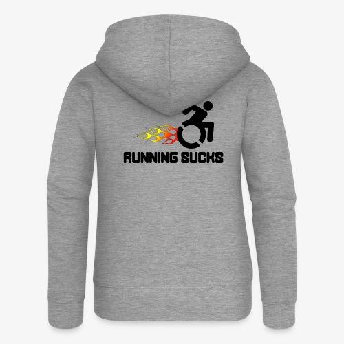 Rolstoel gebruikers vinden rennen niet leuk - Vrouwenjack met capuchon Premium