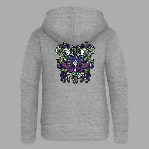 moth - Women's Premium Hooded Jacket