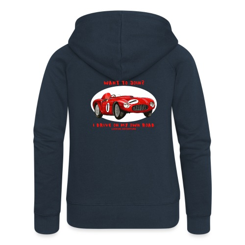 Happy Car Red - Women's Premium Hooded Jacket
