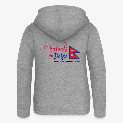 Les Enfants du Doplo - Grand Logo Centré - Veste à capuche Premium Femme