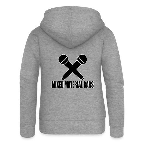 MIXED MATERIAL BARS - Frauen Premium Kapuzenjacke