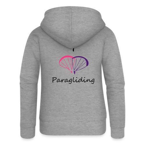 I Love Paragliding V2 - Women's Premium Hooded Jacket