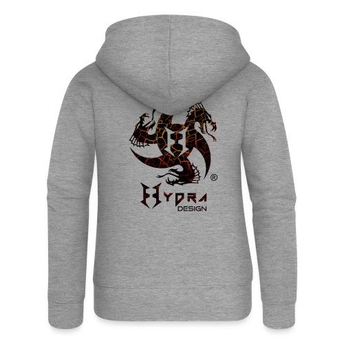 Hydra Design - logo Cracked lava - Felpa con zip premium da donna