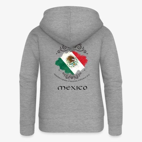 Mexico Vintage Bandera - Frauen Premium Kapuzenjacke