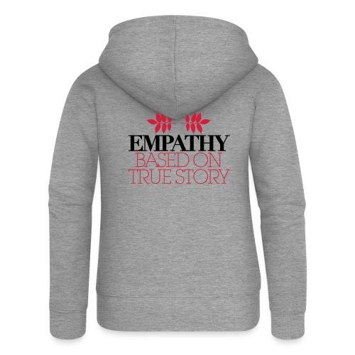 empathy story - Rozpinana bluza damska z kapturem Premium
