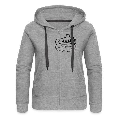 Laufvagabunden T Shirt - Frauen Premium Kapuzenjacke