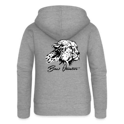 Bow Hunter Gepard 2 färbig - Frauen Premium Kapuzenjacke