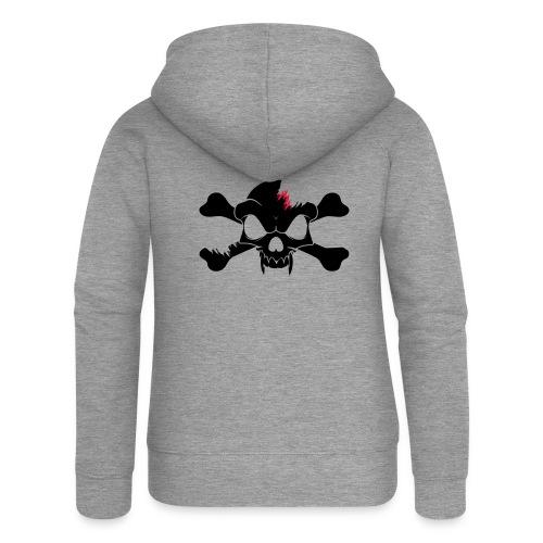 SKULL N CROSS BONES.svg - Women's Premium Hooded Jacket