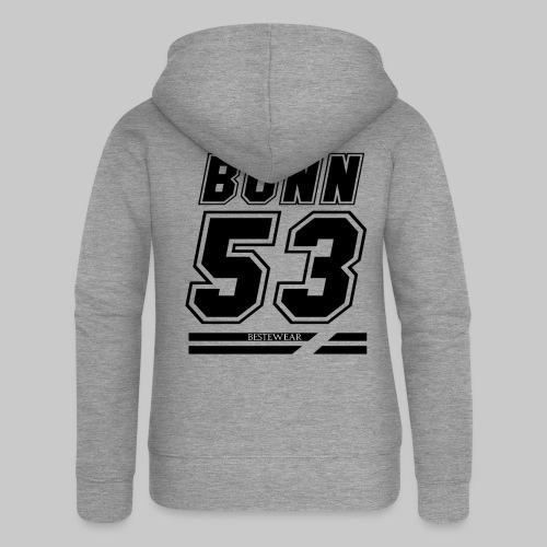 #Bestewear - BN53 (Black Edition) - Frauen Premium Kapuzenjacke