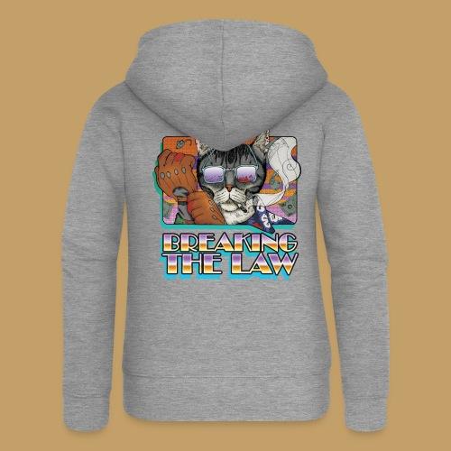 Crime Cat in Shades - Braking the Law - Rozpinana bluza damska z kapturem Premium
