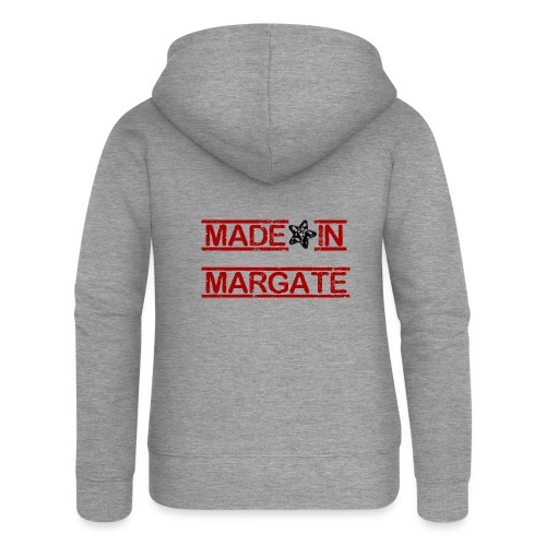 Made in Margate - RED - Women's Premium Hooded Jacket
