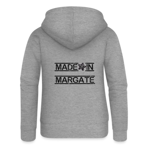 Made in Margate - Black - Women's Premium Hooded Jacket