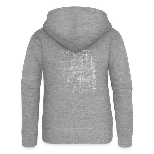 Minimal Davenport city map and streets - Women's Premium Hooded Jacket