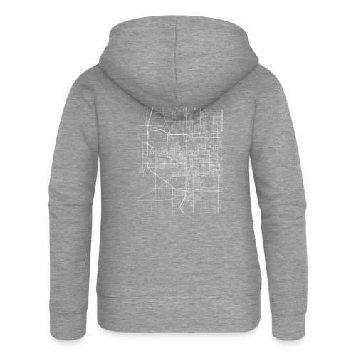 Minimal South Bend city map and streets - Women's Premium Hooded Jacket
