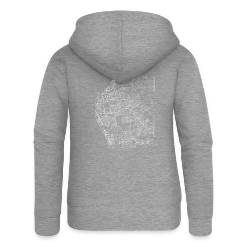Minimal Vista city map and streets - Women's Premium Hooded Jacket