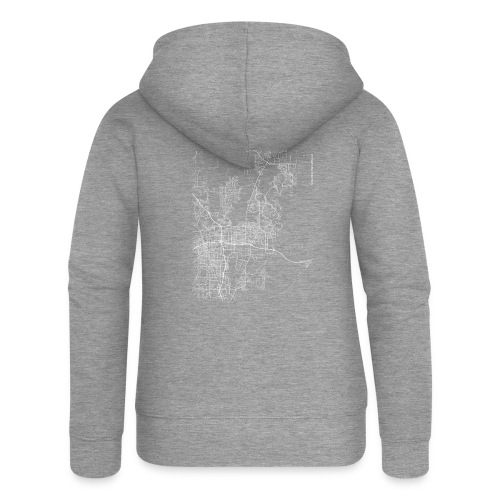 Minimal Sparks city map and streets - Women's Premium Hooded Jacket