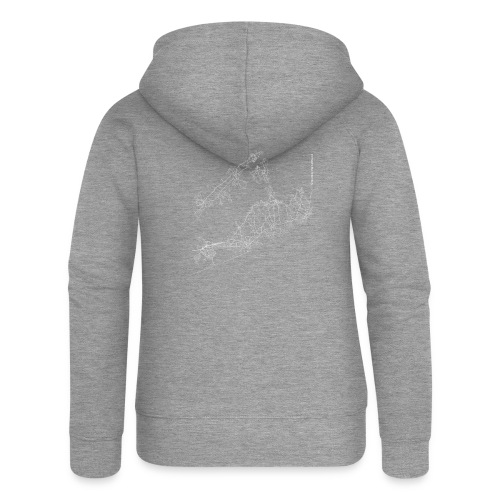 Minimal The Hamptons city map and streets - Women's Premium Hooded Jacket