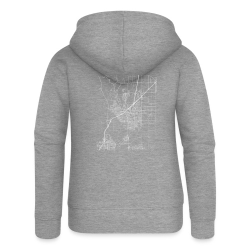 Minimal Vacaville city map and streets - Women's Premium Hooded Jacket