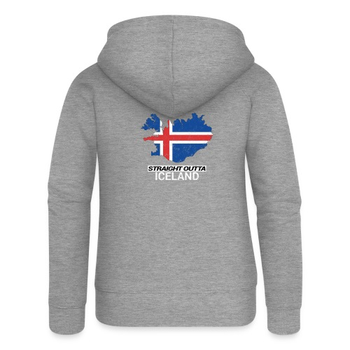 Straight Outta Iceland country map - Women's Premium Hooded Jacket