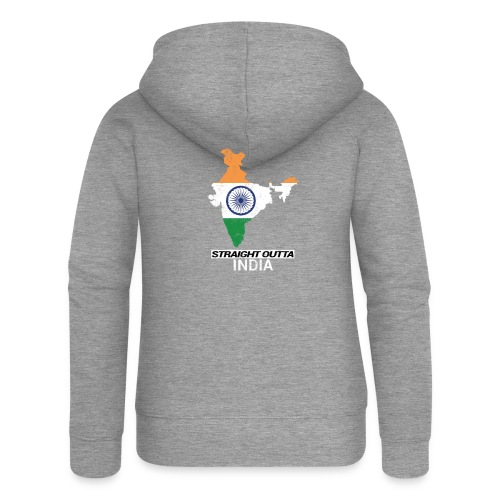 Straight Outta India (Bharat) country map flag - Women's Premium Hooded Jacket