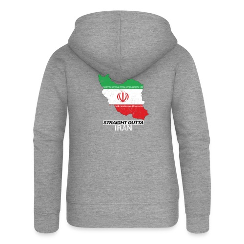 Straight Outta Iran country map & flag - Women's Premium Hooded Jacket