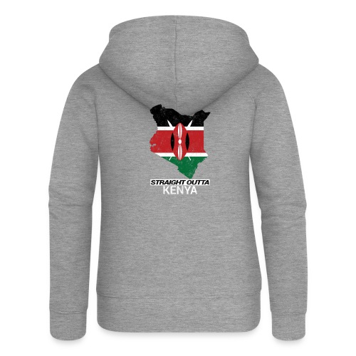 Straight Outta Kenya country map & flag - Women's Premium Hooded Jacket