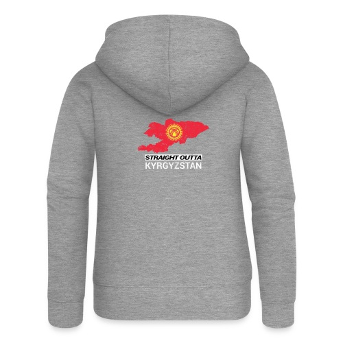 Straight Outta Kyrgyzstan country map - Women's Premium Hooded Jacket