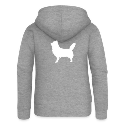 Chihuahua pitkakarva valkoinen - Naisten Girlie svetaritakki premium
