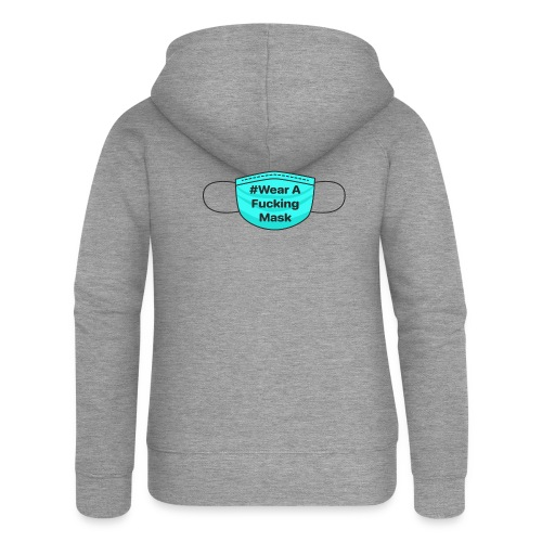 #WearAFuckingMask Black Earloops - Women's Premium Hooded Jacket