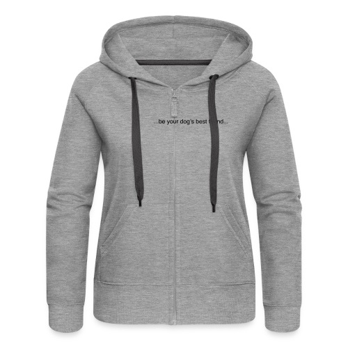 GoodBad svart CMYK (1) - Women's Premium Hooded Jacket