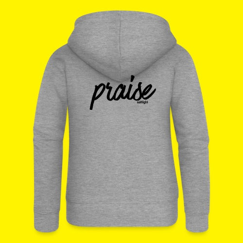 Praise (BLACK) - Women's Premium Hooded Jacket