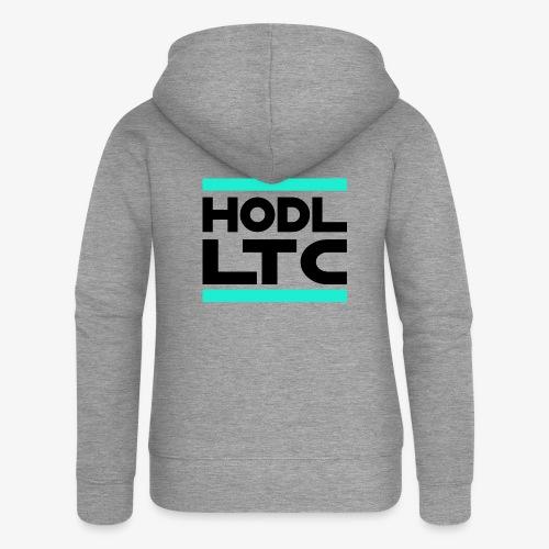 HODL-runltc-b - Women's Premium Hooded Jacket