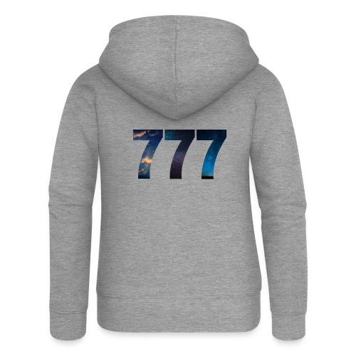 777 un nombre qui apporte chance et spiritualité - Veste à capuche Premium Femme