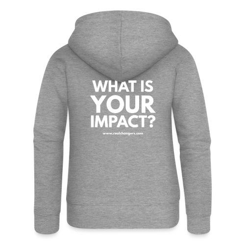 whatisyourimpact - Women's Premium Hooded Jacket