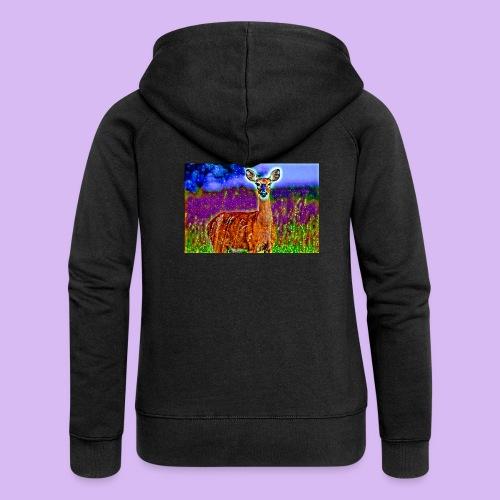 Cerbiatto con magici effetti - Felpa con zip premium da donna
