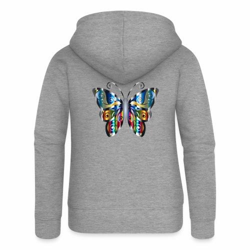 butterfly - Rozpinana bluza damska z kapturem Premium
