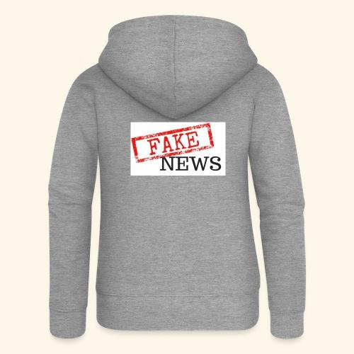 fake news - Women's Premium Hooded Jacket