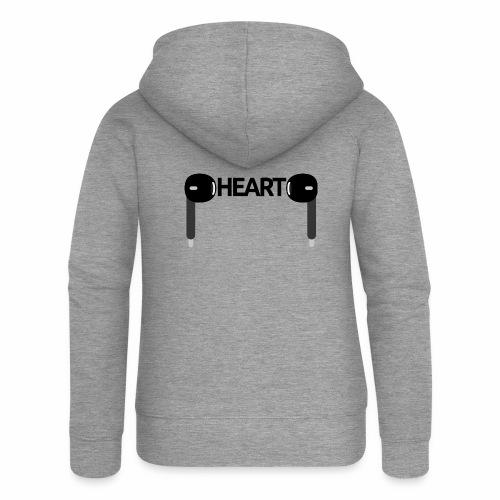 ListenToYourHeart - Rozpinana bluza damska z kapturem Premium